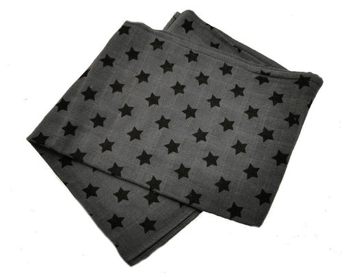 Pippi Stars Burp Cloth, Grey