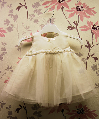 Mingnelin Baby Tylli Dress, off White