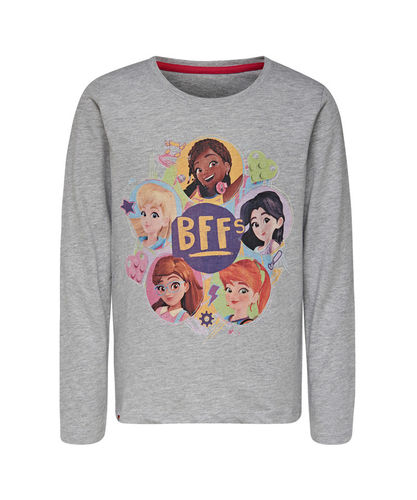 Lego Wear Friends BFFS Ls Paita, Grey Melange
