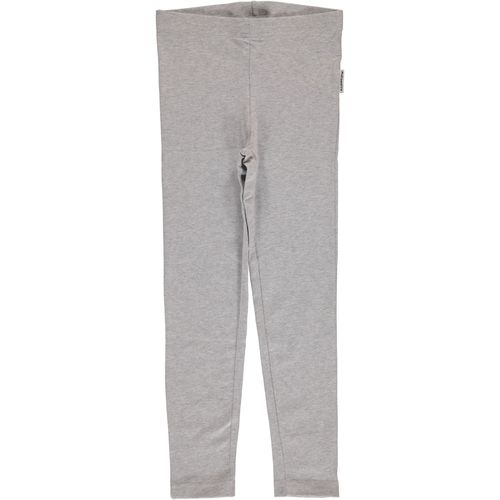 Maxomorra Leggings, Light Grey Melange