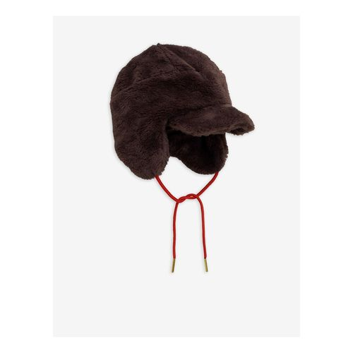 Mini Rodini Faux Fur Cap, Brown