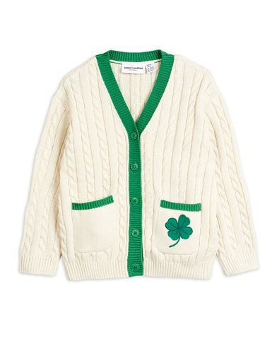 Mini Rodini Tennis Cardigan, White