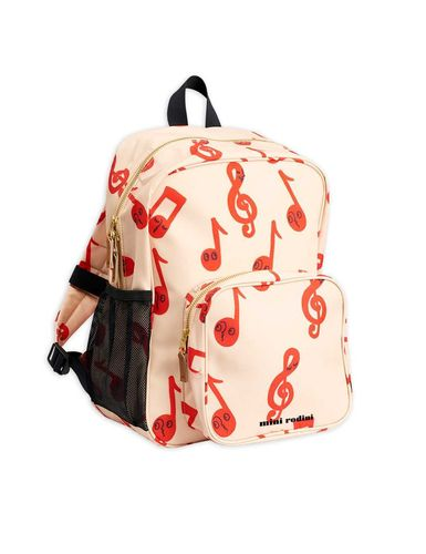 Mini Rodini Notes School Bag, Beige
