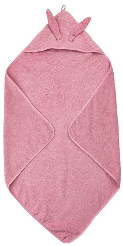 Pippi Hooded Towel, Old Rose
