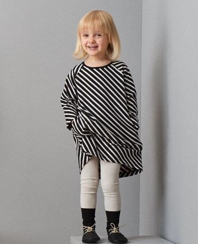 Papu Stripe Tunika, Black/ Sand