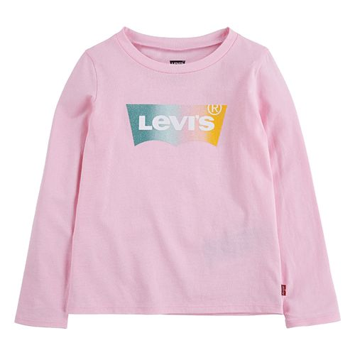 Levi`s Glitter Logo Ls Shirt, Rose Shadow