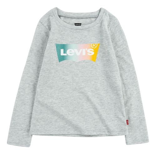 Levi`s Glitter Logo Ls Shirt, Grey Heather
