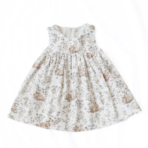 Mingnelin Bunny Baby Dress, Off White