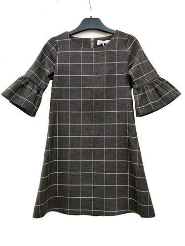 Mingnelin Checks Dress, Grey