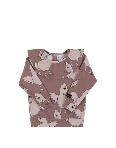 Dear Sophie Brown Chicken Frilled Ls Shirt