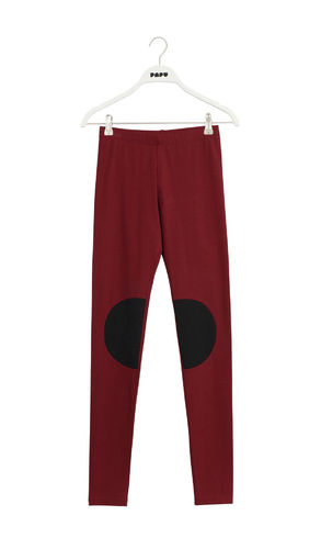 Papu Patch Leggings, Deep Red/ Black