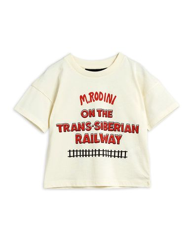 Mini Rodini Transsiberian Sp Ss Tee, Off White