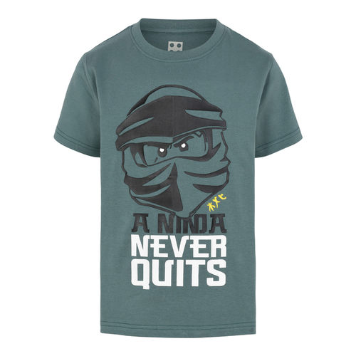 Lego Wear Ninja Never Quits T-Shirt, Mat Green