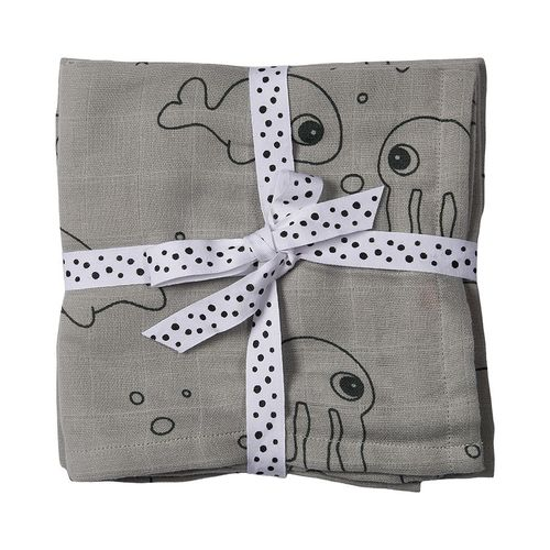 Done by Deer Sea Friends Harsot 2-pack, Grey