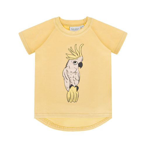 Dear Sophie Parrot Ecru Pale Yellow T-Shirt