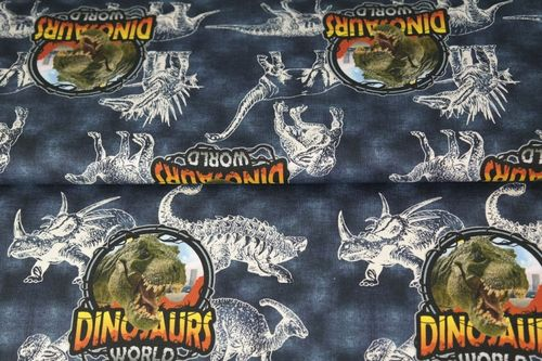 Digiprintti Dinosaurs World, Navy