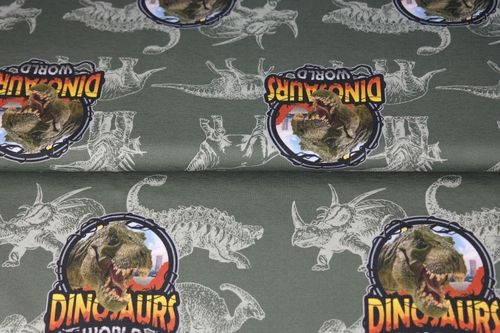 Digiprintti Dinosaurs World, Army Green