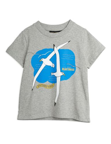Mini Rodini Albatross Sp Ss Tee, Grey Melange